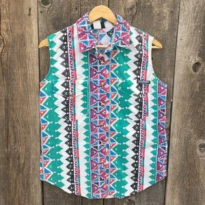 Vintage Roughrider 90s Sleeveless Western Shirt